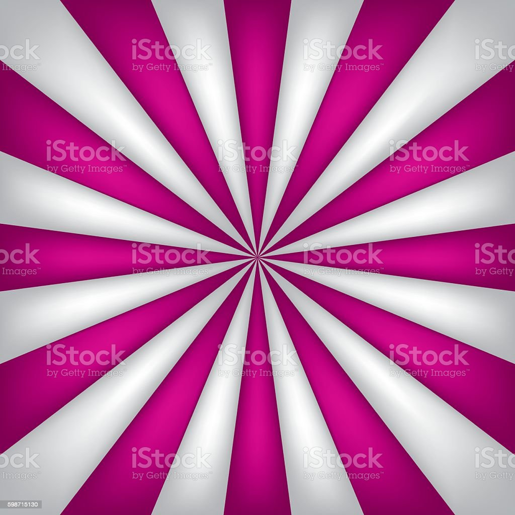 Ilustración De Pink And White Abstract Rays Circle