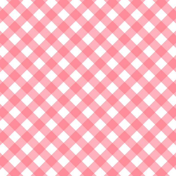 pink and white gingham background. vector illustration pink and white gingham background. vector stock illustration cooking borders stock illustrations