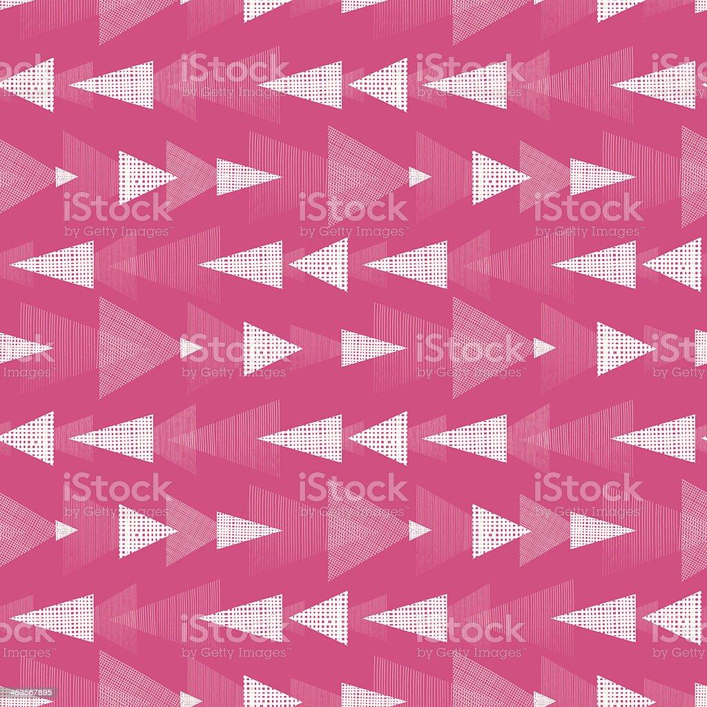 Rosa E Bianco Ikat Triangoli Strisce Seamless Pattern Di Sfondo