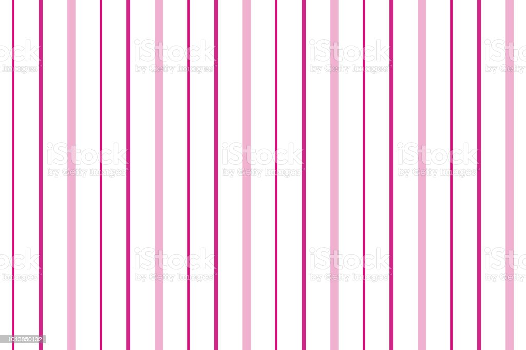 Pink And White Stripes Background Stock Vector Art More Images Of