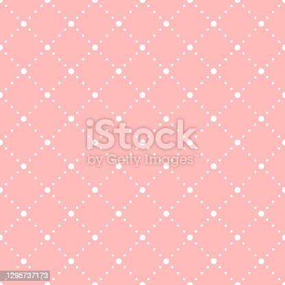 pink baby repetitive background with dots. vector seamless pattern. classic stylish texture. fabric swatch. wrapping paper. continuous print. design element for textile, apparel, phone case