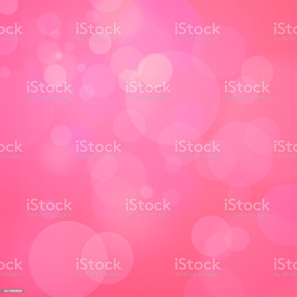 Pink Background with Bokeh vector art illustration
