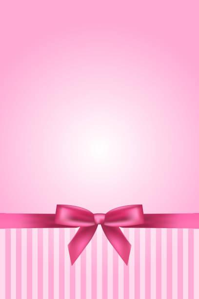 ilustrações, clipart, desenhos animados e ícones de fundo rosa com fita - novo bebê