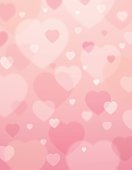 pink background with  valentine hearts ,  vector illustration