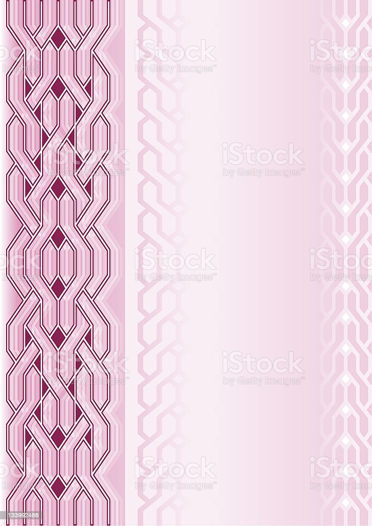 Pink background with weaving pattern royalty-free stock vector art