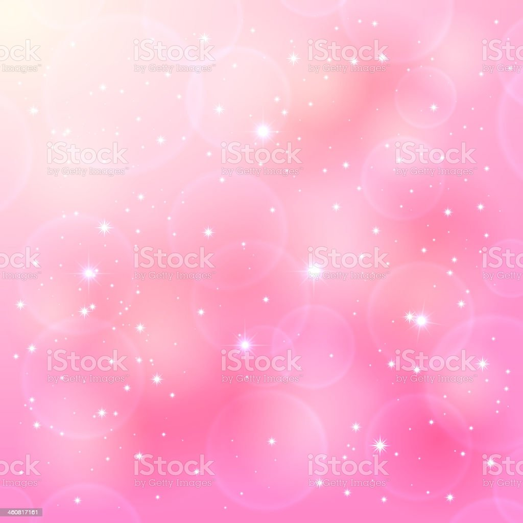 Pink background with white stars vector art illustration