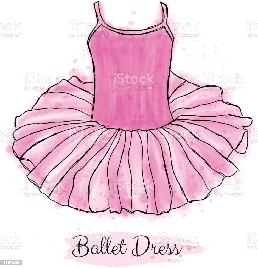 Ilustración de Vestido De Bailarina Rosado Vestido De Baile De ...