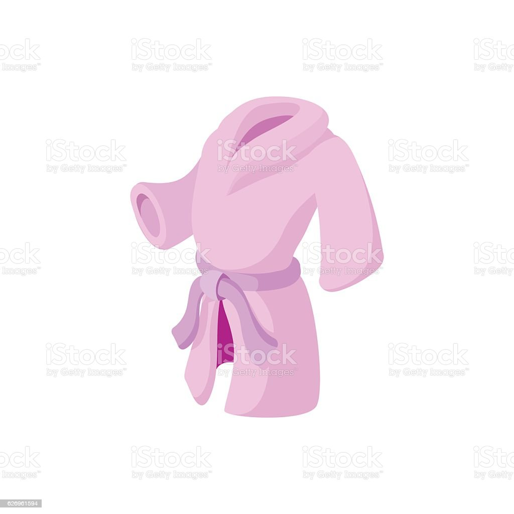 Pink bathrobe cartoon icon - ilustración de arte vectorial