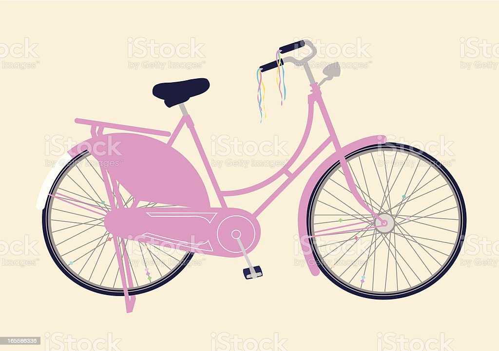 Pink bicycle royalty-free stock vector art