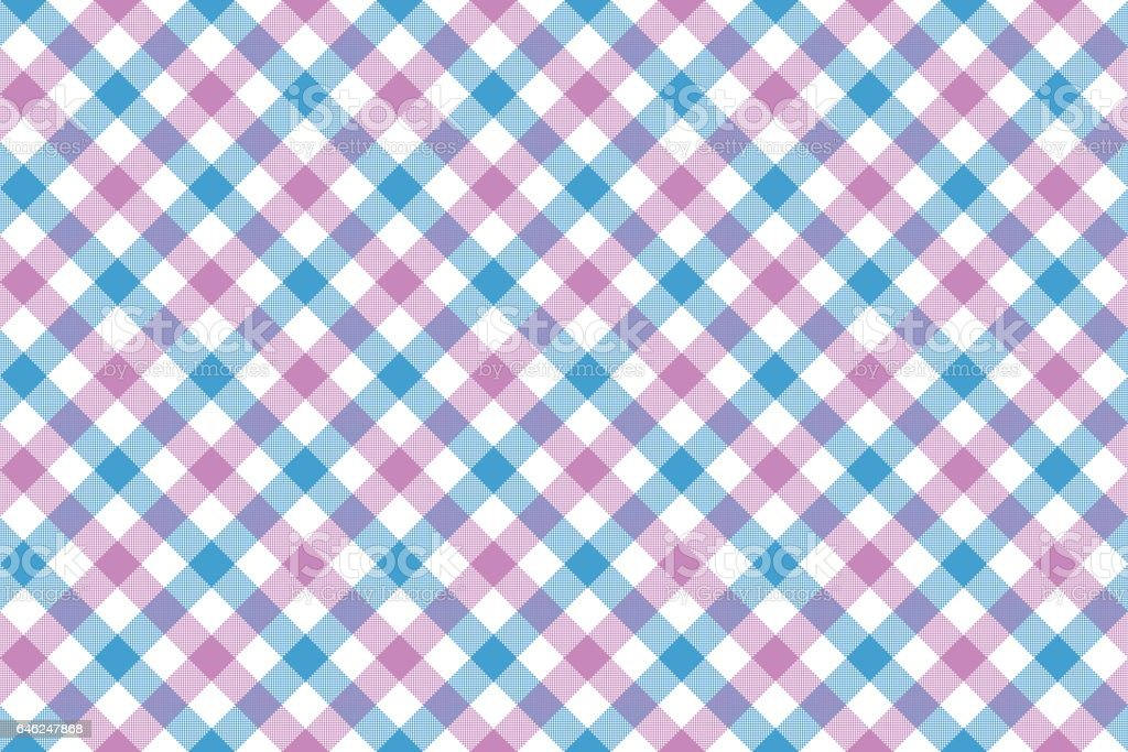 Pink Blue Check Diagonal Fabric Texture Background Seamless ...