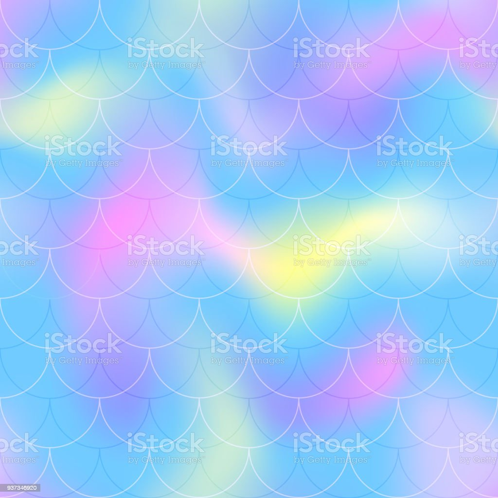 Rosa Blau Meerjungfrau Skala Vektor Hintergrund Cool Gamma