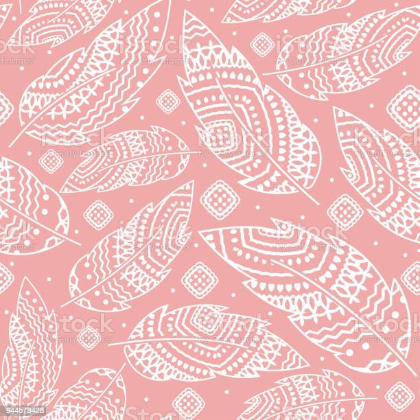 Pink boho background with white feather seamless pattern ethnic vector id944578428?b=1&k=6&m=944578428&s=612x612&h=r nheyj0j55hsdd2ifrktcm8xlnyacstvzffwtfhrma=