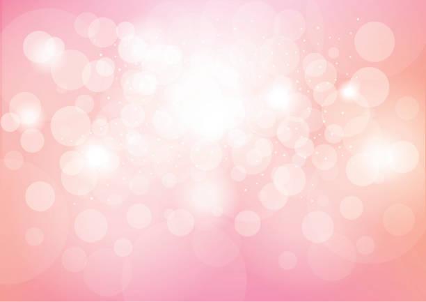 bildbanksillustrationer, clip art samt tecknat material och ikoner med pink bokeh effect abstract background - rosa bakgrund
