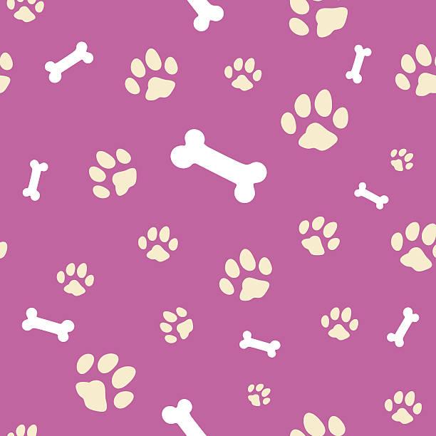 pink bone and paw texture - animal bone stock illustrations