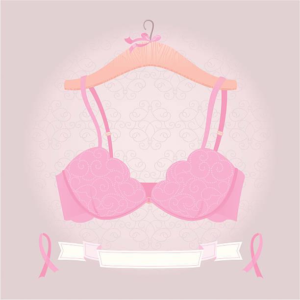 Pink Bra vector art illustration