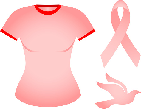 pink breast cancer awareness t-shirt