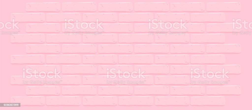 ピンクのレンガの壁のテクスチャ。ひびの入った空の背景。グランジ甘い壁紙。ヴィンテージを石垣します。 ベクターアートイラスト