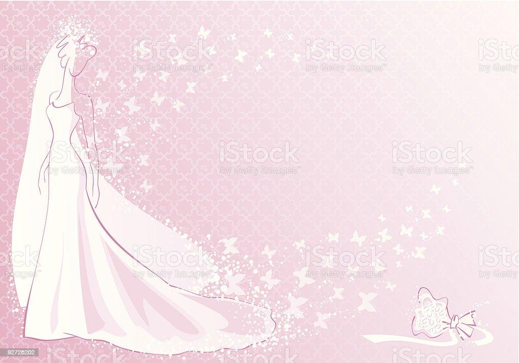 pink bride royalty-free stock vector art