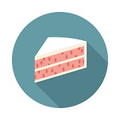 Pink Cake Gender Reveal Icon