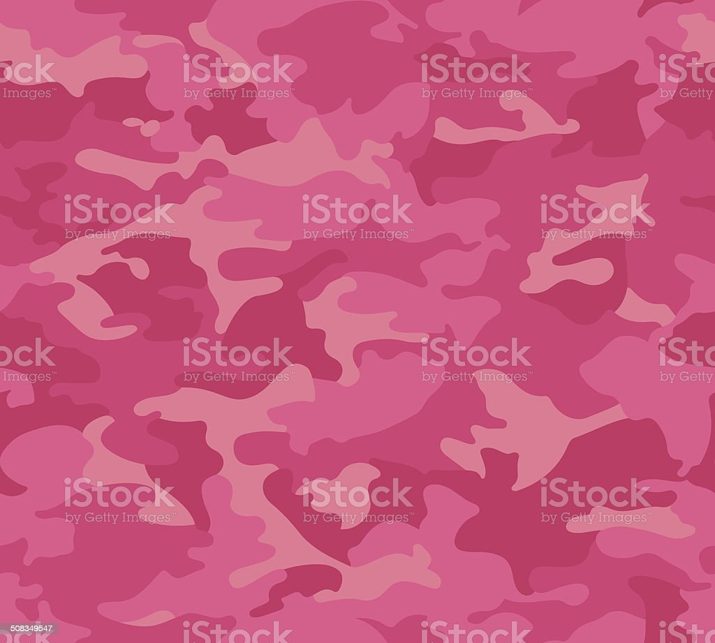 Pink Camo Pattern Repeat vector art illustration