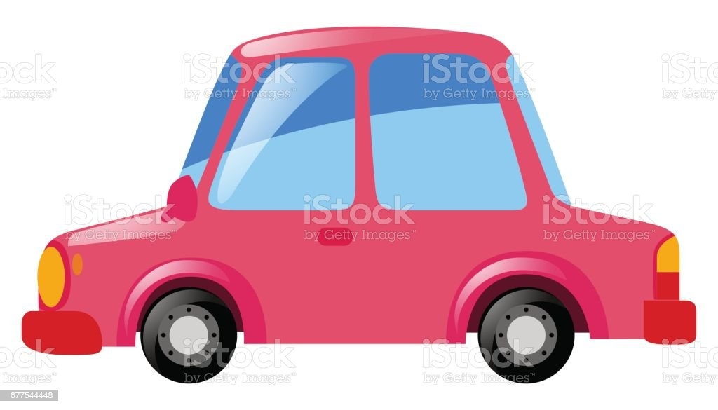 Pink car on white background royalty-free pink car on white background stock vector art & more images of art