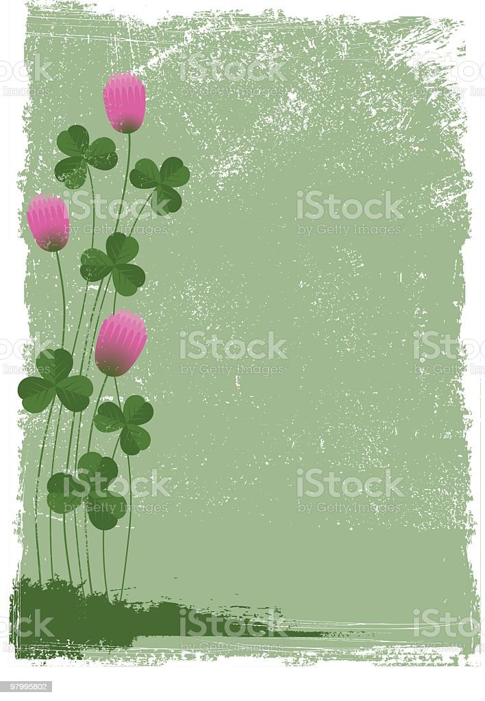 Pink clover royalty-free pink clover stock vector art & more images of backgrounds
