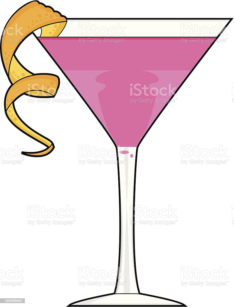 royalty free martini pink clip art vector images illustrations rh istockphoto com Lady Drinking Martini Clip Art Lady Drinking Martini Clip Art