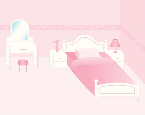 Pink color bedroom