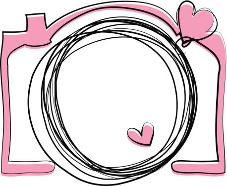 Pink Color Doodle Camera Illustration向量圖形及更多可愛圖片