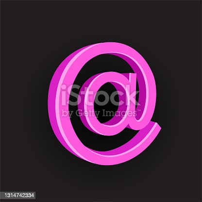 istock pink color email sign symbol 1314742334