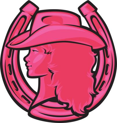 pink cowgirl horseshoe