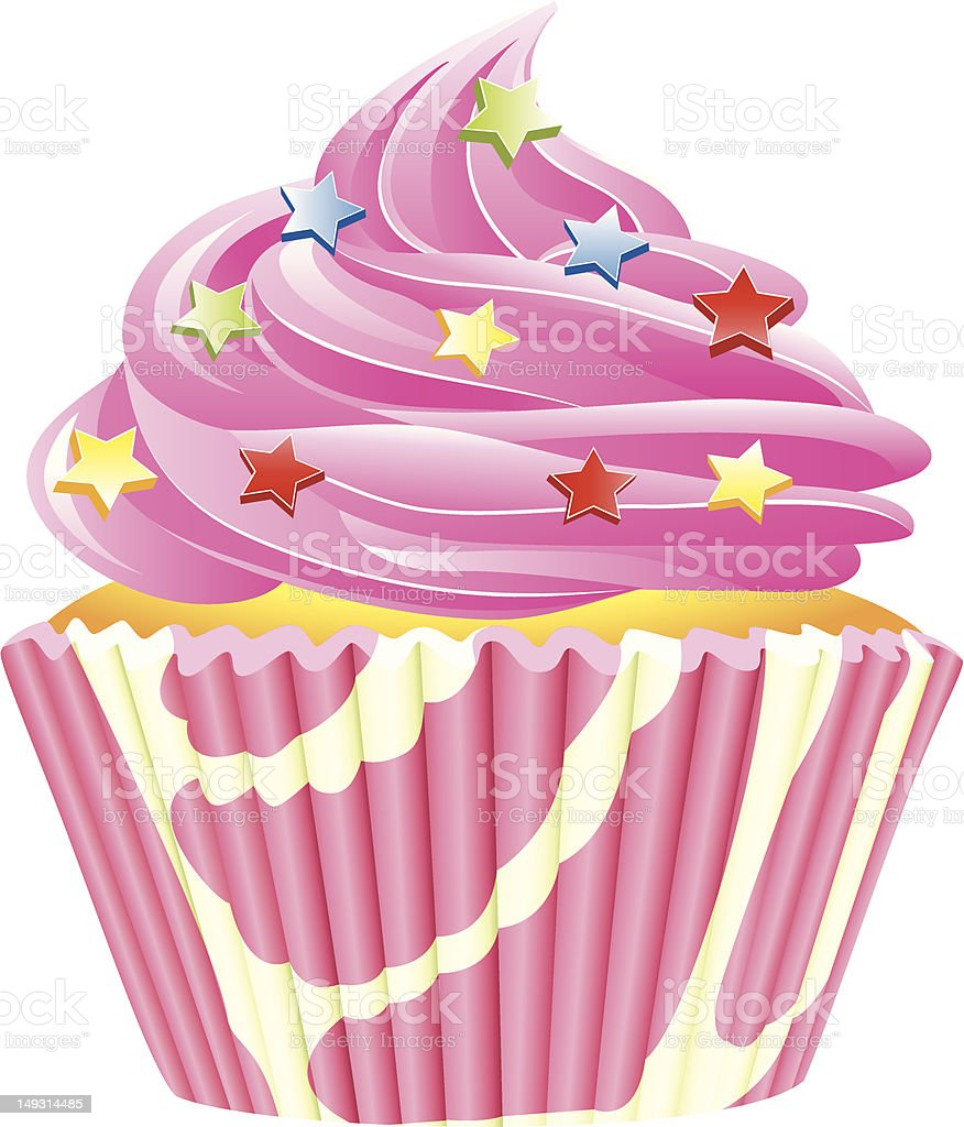 pink cupcake royalty-free pink cupcake stock vector art & more images of birthday