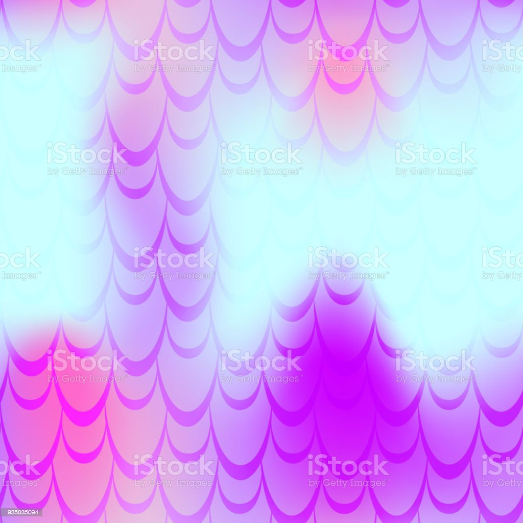 Pink cyan mermaid vector background. Multicolored iridescent background. vector art illustration