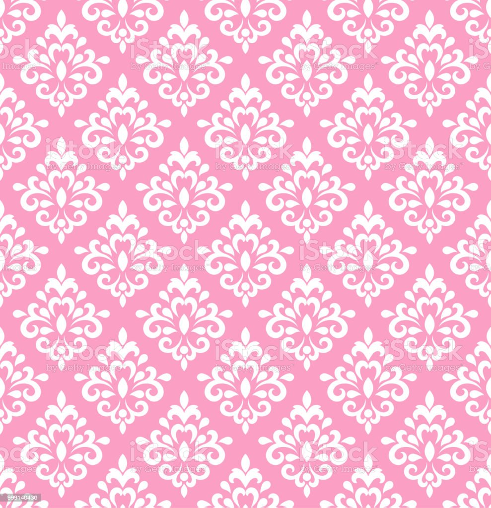 Pink Damask Wallpaper Royalty Free Stock Vector Art Amp More Images