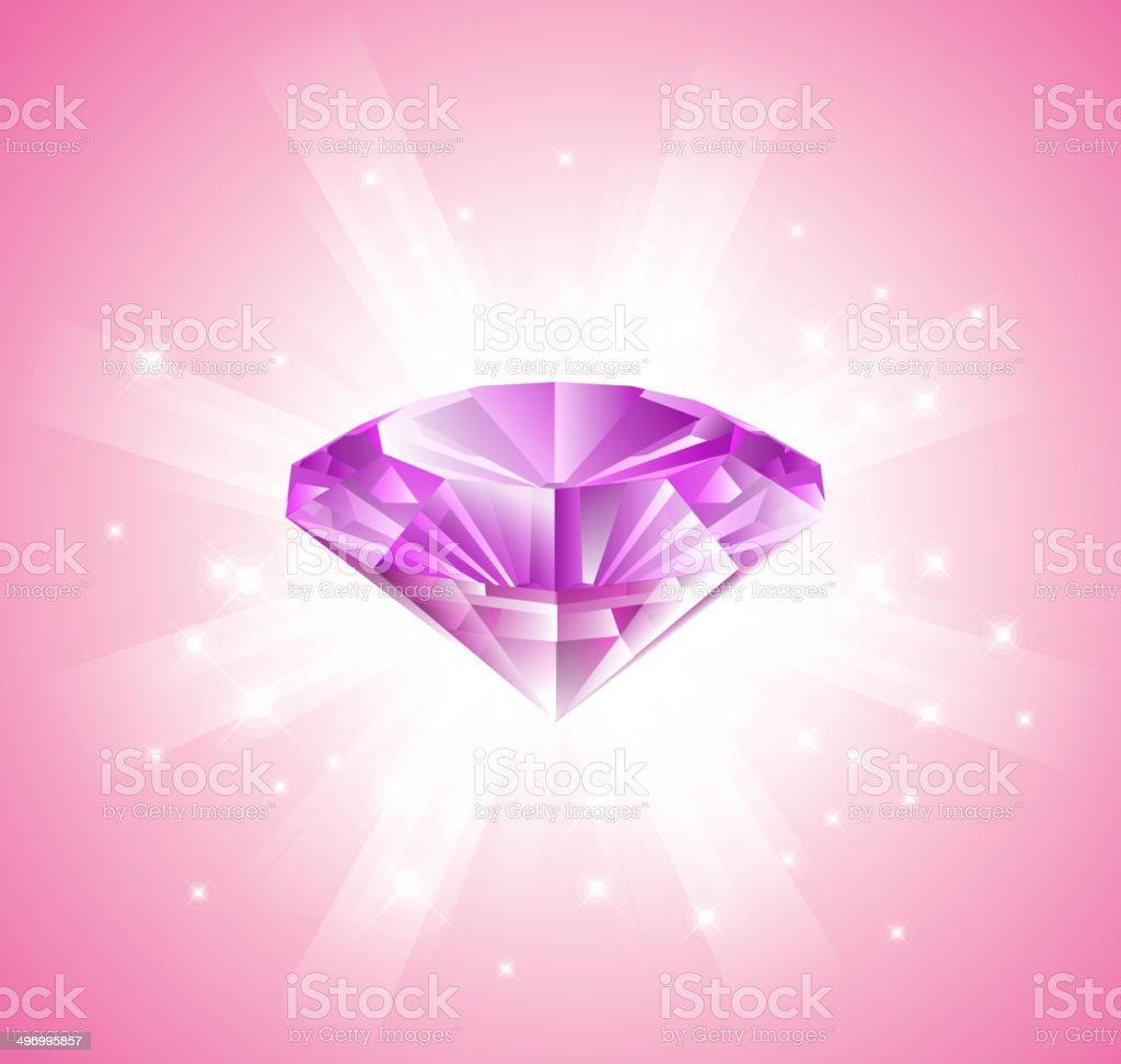 Pink diamond royalty-free stock vector art