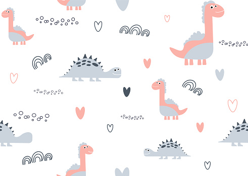 Pink Dino background