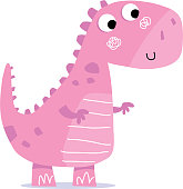 Cute Dinosaur. Contains clipping mask on eyes.