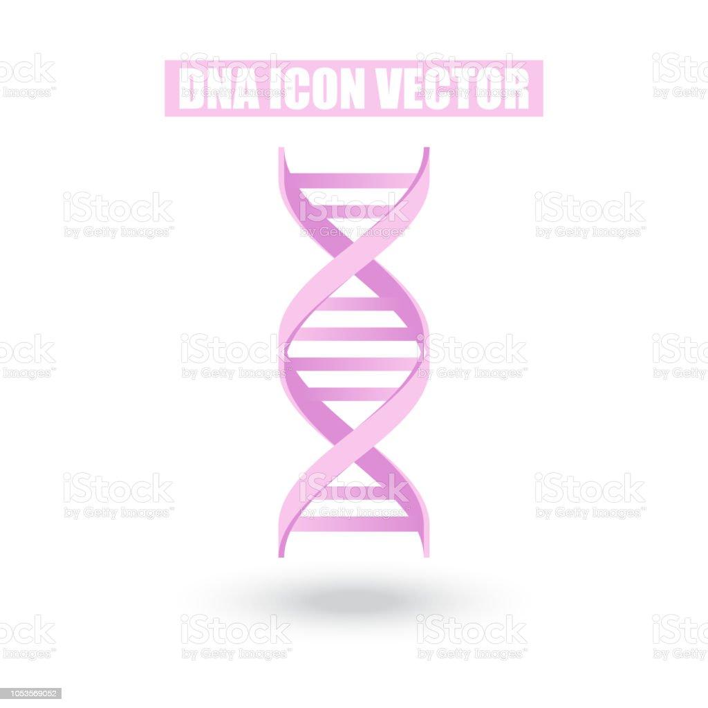 Ilustración De Rosa Adn Icono Estructura Ciencia Molecular Y