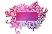 Pink doodle colored frame