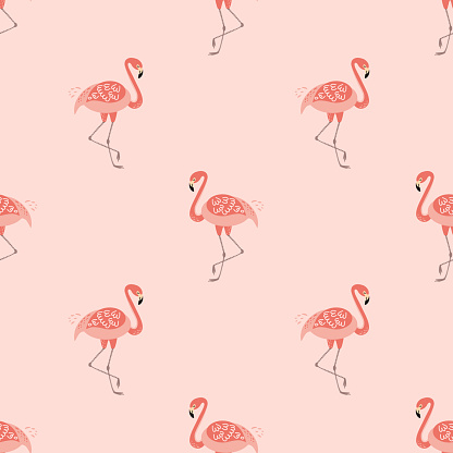 Pink Flamingo Seamless Pattern Cute Design For Girls Pink Background Vector Flamingo Print Stock Illustration Download Image Now Istock Hd & 4k quality wallpapers no attribution required available on all devices! pink flamingo seamless pattern cute design for girls pink background vector flamingo print stock illustration download image now istock