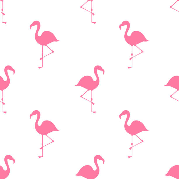 pink flamingos summer pattern. - flamingo stock illustrations