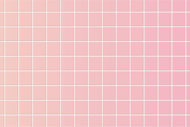 ilustrações de stock, clip art, desenhos animados e ícones de pink floor tile. texture illustration vector. - azulejo