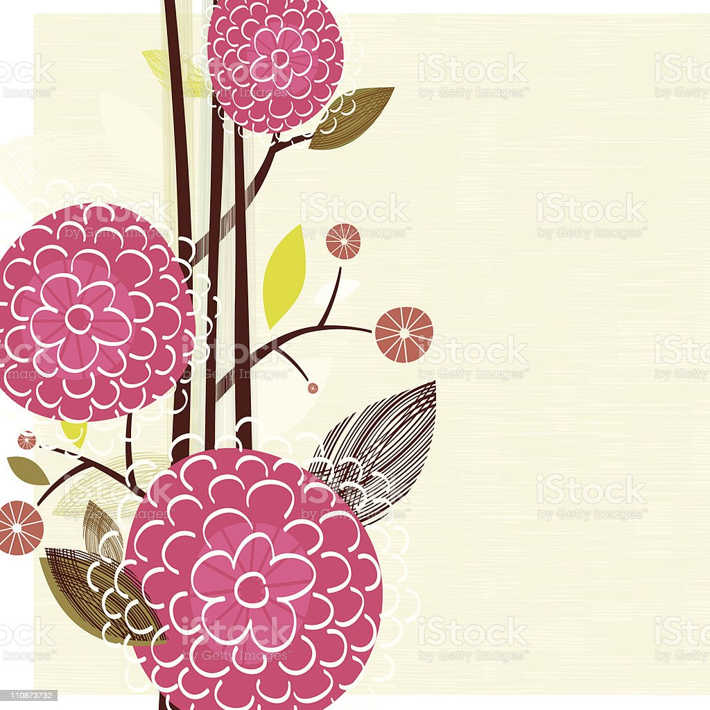 Pink Floral background royalty-free stock vector art