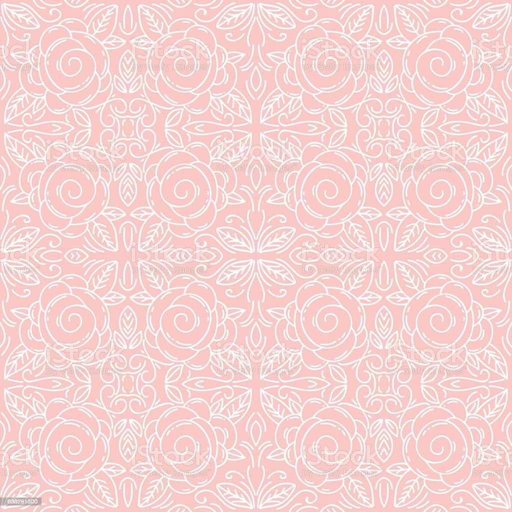 Pink Floral Seamless Patterns Ideal For Printing Onto Fabric Stock