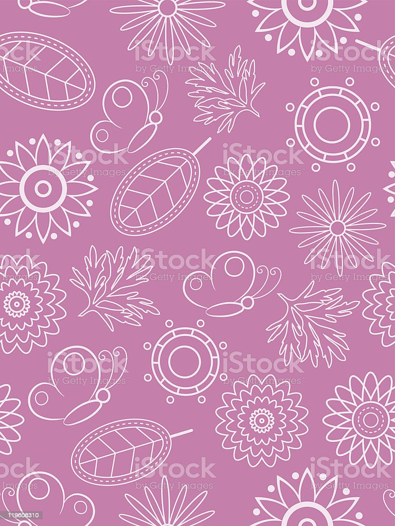 Pink floral seamless. Vector illustration. royalty-free stock vector art