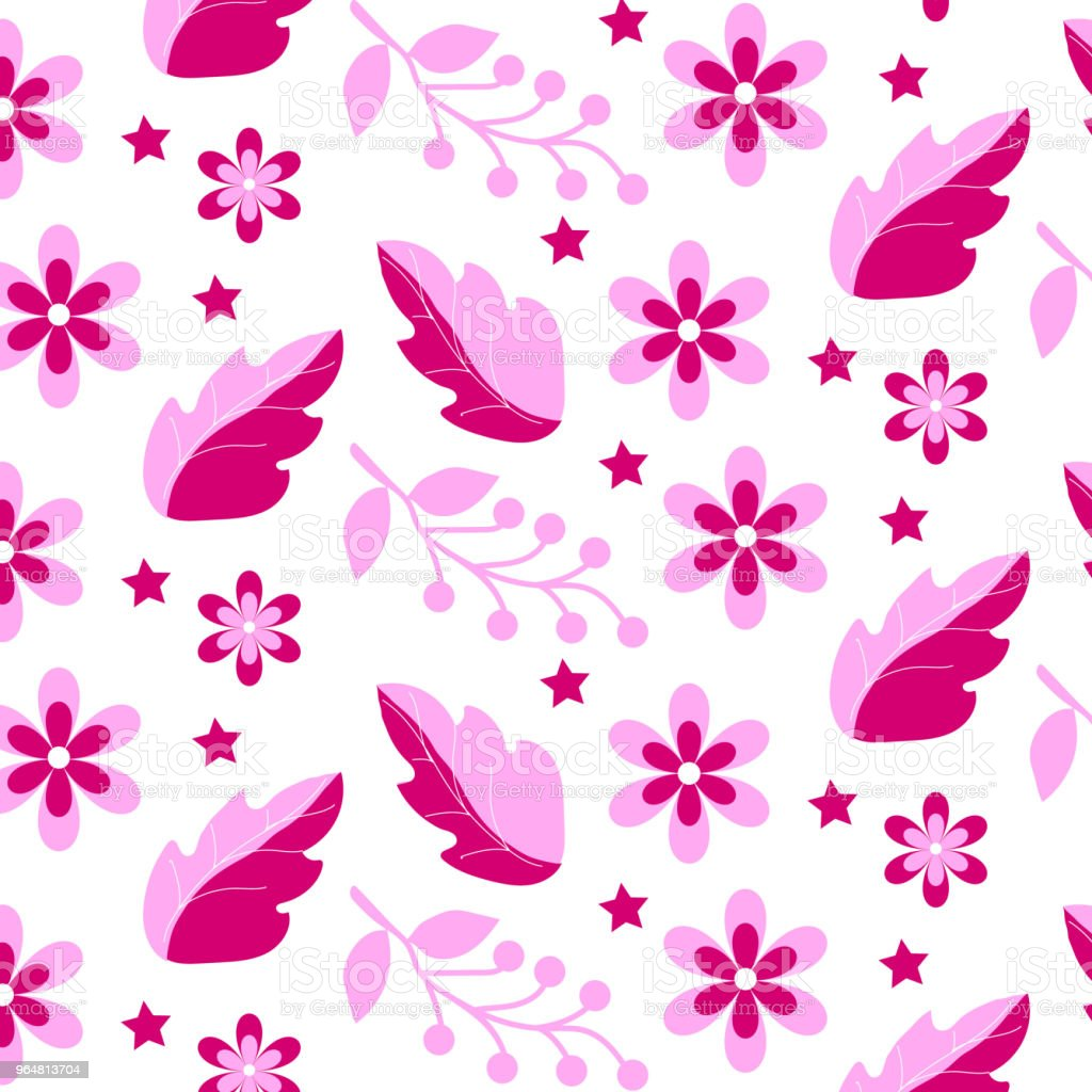 Pink Flower Pattern royalty-free pink flower pattern stock vector art & more images of art