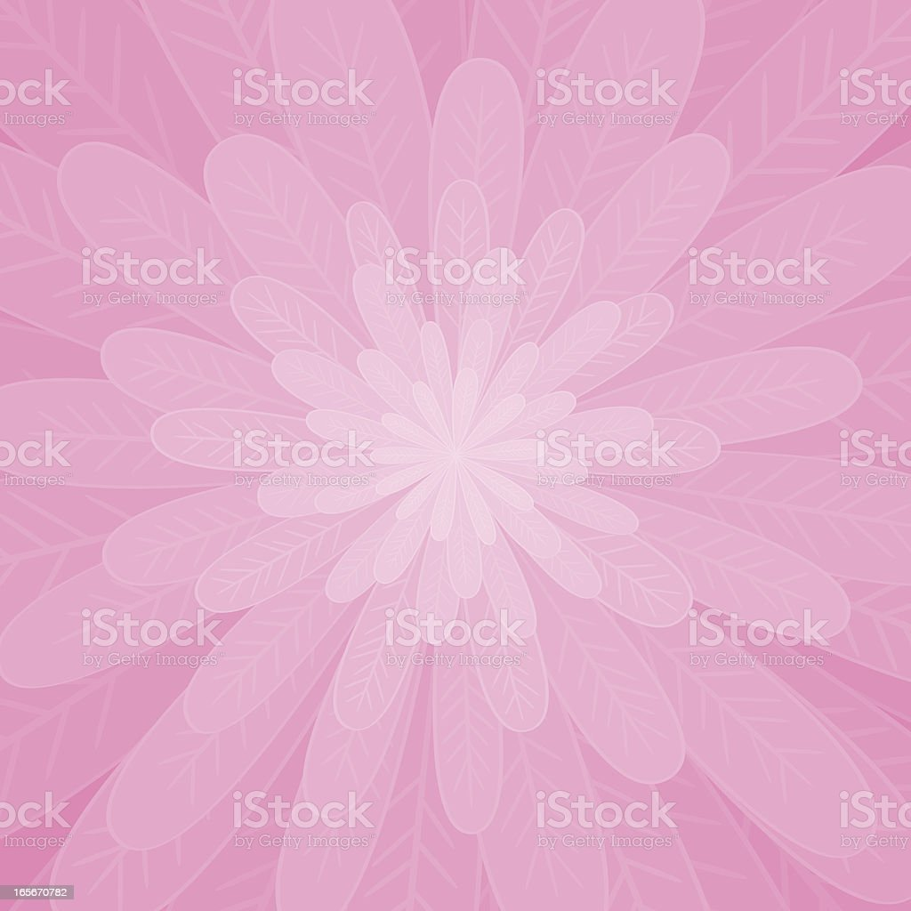 Pink flower vector art illustration