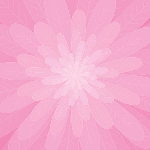 Pink flower vector art illustration