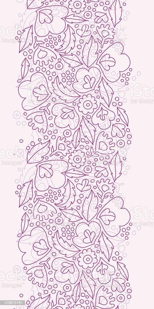 Fiori Rosa Lineart Verticale Seamless Pattern Di Sfondo Immagini