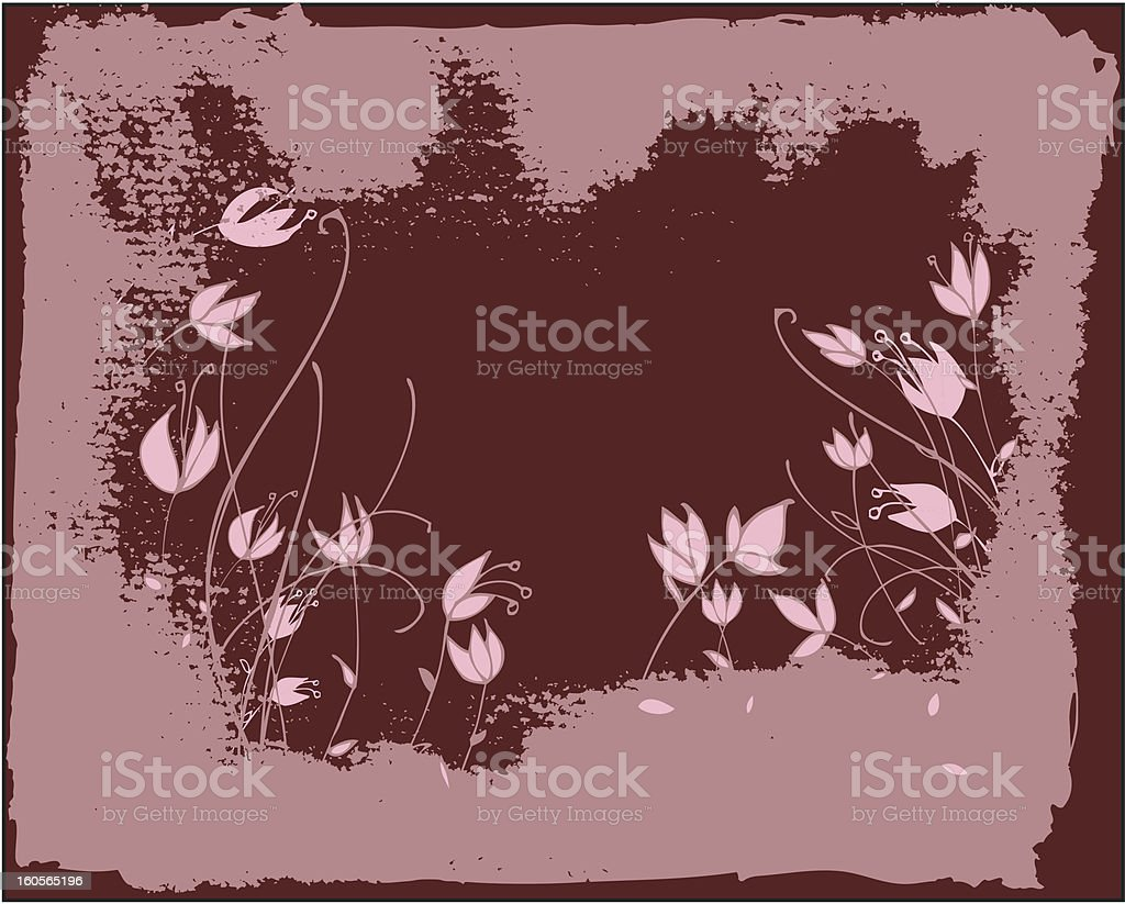 pink flowers royalty-free stock vector art